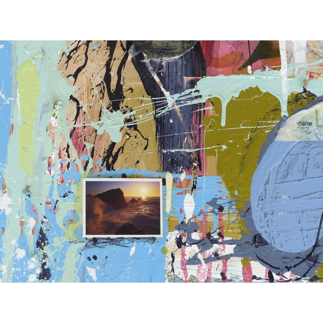 """William P. Montgomery Abstract Mixed Media Painting """"Swamp Talk 1/2"""", 2015 For Sale In Miami - Image 6 of 13"""