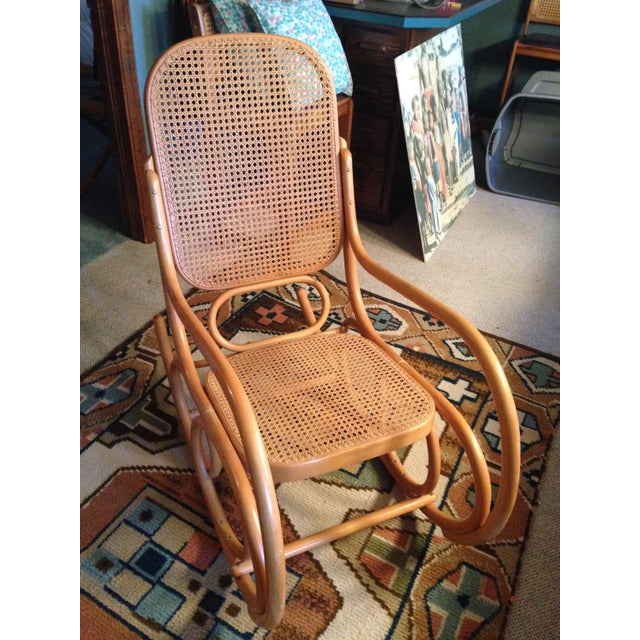 A beloved piece from my daughter's nursery. 1977. The cane I had replaced on the seat and back. I used it in my son's...