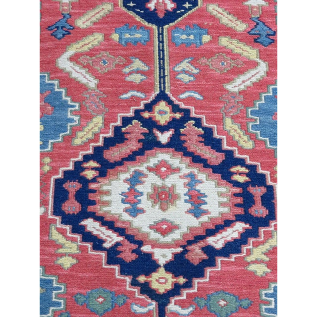 Hand Made Geometric Medallion Rug 3′1″ × 5′6″ For Sale - Image 4 of 5