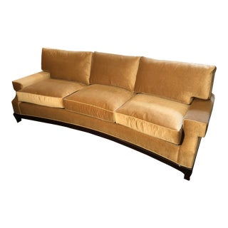 A. Rudin Custom No. 2519 Gold Mohair Sofa