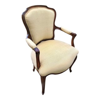 Louis XVI French Fauteuil With Quality Upholstery For Sale