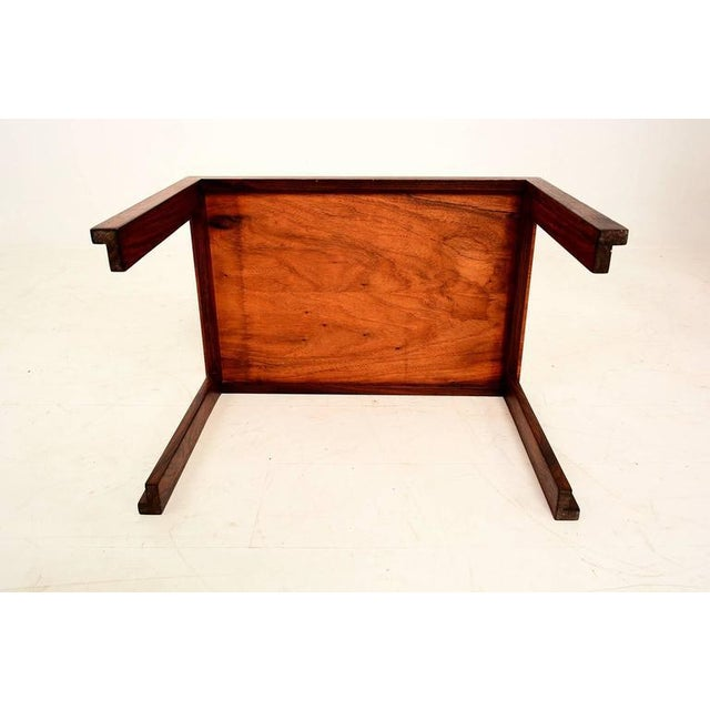 Mid Century Danish Modern Solid Rosewood & Mahogany Side Table For Sale In San Diego - Image 6 of 6