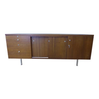 1960s Mid-Century Modern Walnut Filing Cabinet For Sale