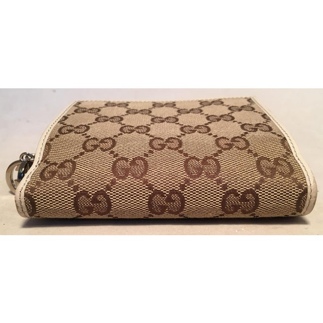 415de6acf7e649 Early 21st Century Gucci Gg Monogram and Beige Leather Wallet With Zip  Pocket and Box For