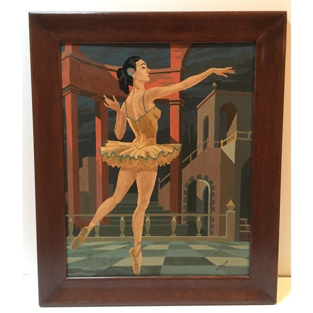 This prima ballerina seems to be from a series of vintage ballet scenes with architectural backdrops, but we love this one...
