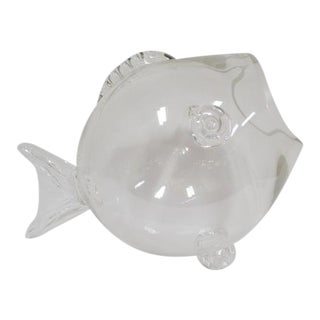 1970s Vintage Glass Fish Terrarium For Sale