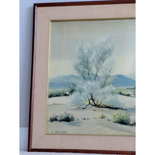 Evelyn E. McGinnis Mid-Century Watercolor Paintings - A Pair For Sale - Image 5 of 11