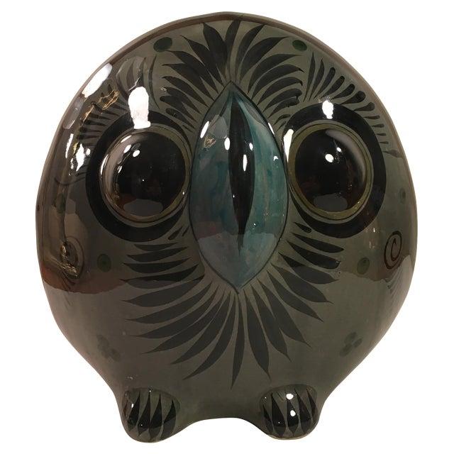 Large Tonala-Style Ceramic Owl - Image 1 of 8
