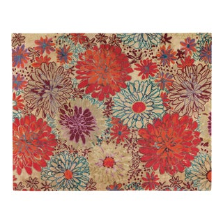 Bouquet w/ Linen Autumn, 2 x 3 Rug For Sale