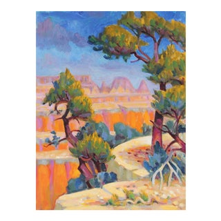 Frederick Pomeroy Desert Canyon Landscape in Oil, 20th Century For Sale