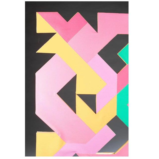 Mid-Century Modern Geometric Hard Edge Painting by Sidney Guberman For Sale - Image 3 of 8
