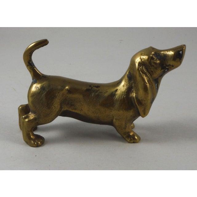 Brass Dachshund Figurine - Image 2 of 4