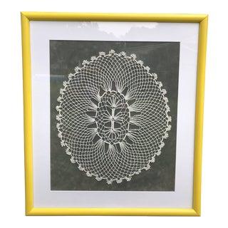 Vintage Framed Doily For Sale