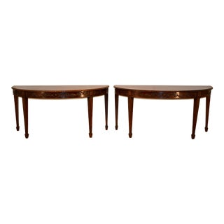 Early 19th Century Demilune Tables - a Pair For Sale