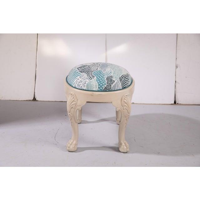 English Custom Madcap Cottage Stool For Sale - Image 3 of 9