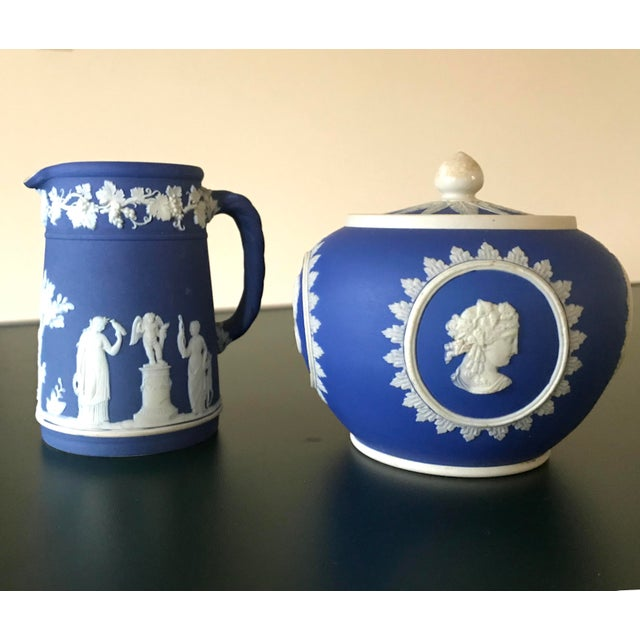 Neoclassical Wedgwood Jasperware Cream & Sugar Containers - 2 Pieces For Sale - Image 11 of 13