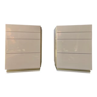 1980s Bridgeford Via Veneto Ivory Lacquered Nightstands by - a Pair For Sale