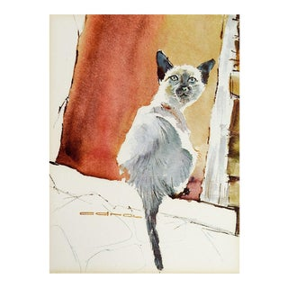 Siamese Cat Print of Watercolor