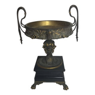 Antique French Bronze Compote For Sale