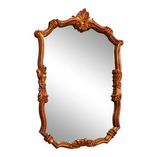 Vintage Hollywood Regency Gold Mirror For Sale