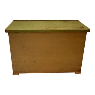 Painted Pine Storage or Utility Box For Sale