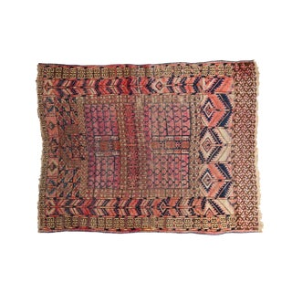 "Antique Turkmen Rug - 3'8"" X 4'9"" For Sale"