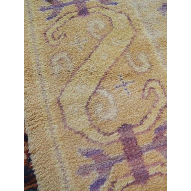 Purple Spanish Carpet For Sale - Image 8 of 10
