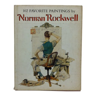 """Coffee Table Display Book """"102 Favorite Paintings of Norman Rockwell"""", 1978 For Sale"""