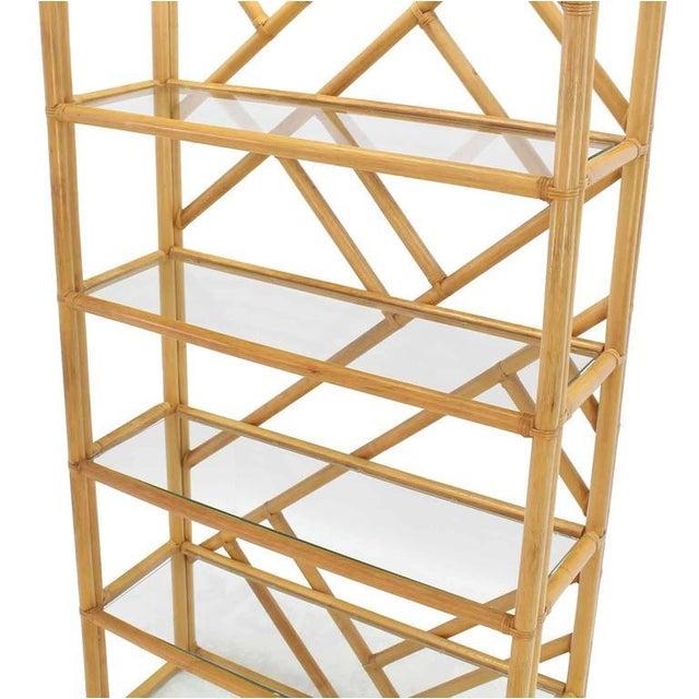 Mid-Century Modern Large Rattan Shelf For Sale - Image 3 of 8
