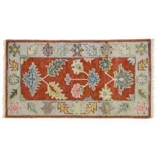 Contemporary Colorful Oushak Accent Rug- 2' X 3'10 For Sale
