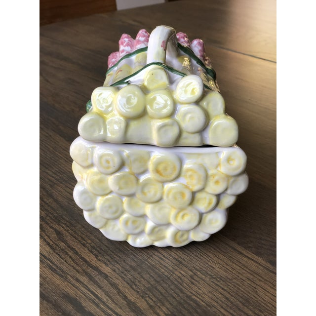 Ceramic majolica dish with lid in asparagus bundle. Trompe l'oeil style. Made in Portugal by Neuwirth Beautiful for...