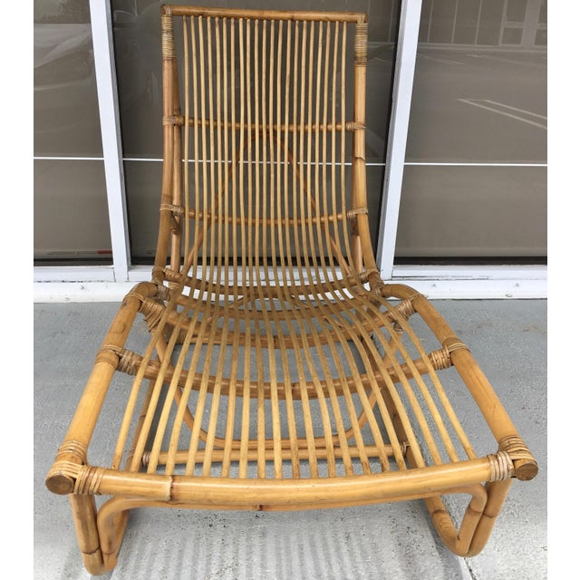 Franco Albini Bamboo Chaise Longue For Sale - Image 5 of 7