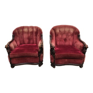 20th Century Italian Renaissance Chairs - A Pair