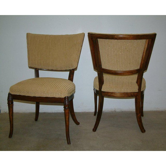 Modern 1930s Beechwood Klismos Chairs - A Pair For Sale - Image 3 of 8