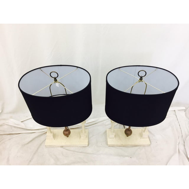 Vintage Mid-Century Modern Art Deco Lamps - a Pair For Sale - Image 4 of 10