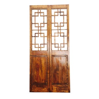 Asian Style 2 Panel Room Divider Screen For Sale