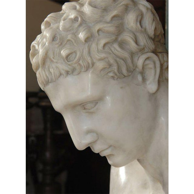 20th Century Carved Marble Bust of Hermes For Sale - Image 4 of 6