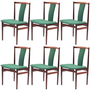 Sculptural Rosewood Dining Chairs - Set of 6 For Sale