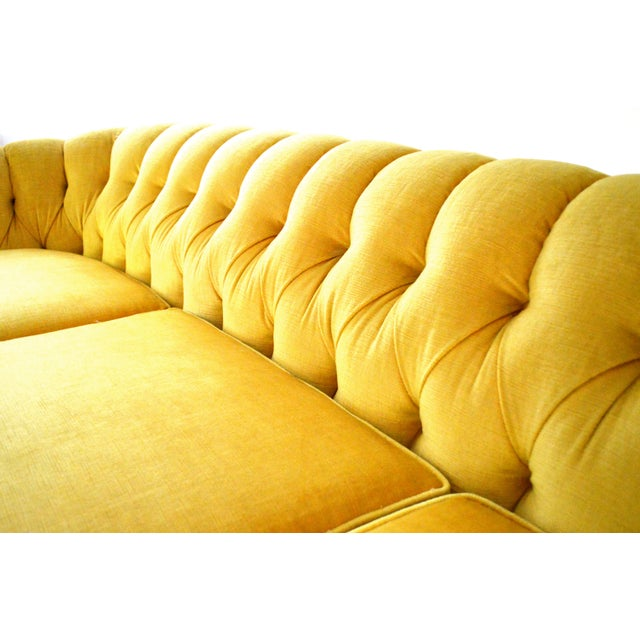 Vintage Yellow Tufted Sofa - Image 3 of 6