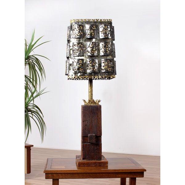 Mid-Century Brutalist Table Lamp - Image 6 of 6
