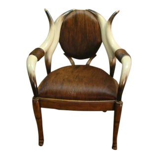 Theodore Alexander Bull Horn Style Chair For Sale