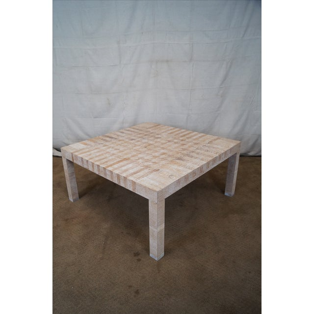 Jonathan Charles Houndstooth Parsons Coffee Table - Image 5 of 10