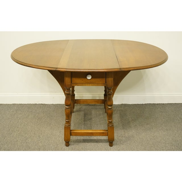 Brown 20th Century Country Jamestown Ny Solid Walnut Maddox Table For Sale - Image 8 of 13