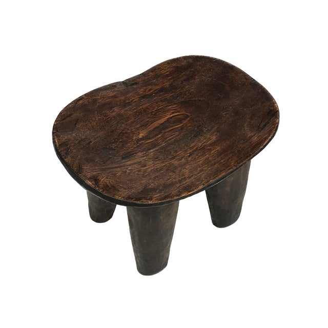 """1970s African Old Senufo Wood Milk Stool I . Coast 12"""" W by 8"""" H For Sale - Image 5 of 7"""
