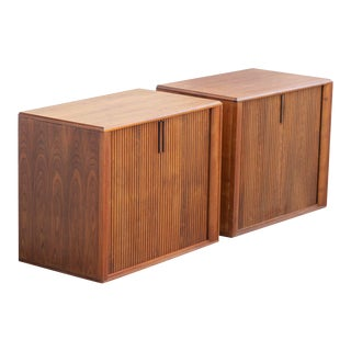 Barzilay Cabinet With Tambour Doors With Drawers For Sale