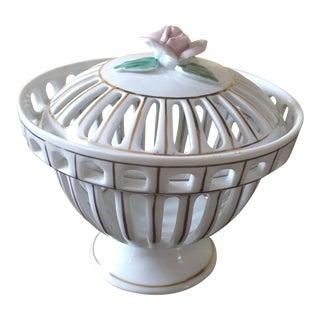 Chelsea House Porcelain Potpourri Bowl For Sale