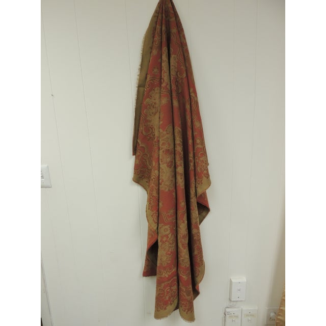 Cotton Mulberry Woven Dusty Rose Floral Throw For Sale - Image 7 of 7