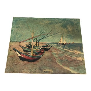 Vincent Van Gogh the Boats of St. Marie Canvas Print For Sale
