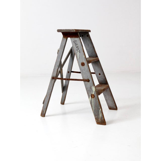 Vintage Wooden Step Ladder For Sale - Image 9 of 12