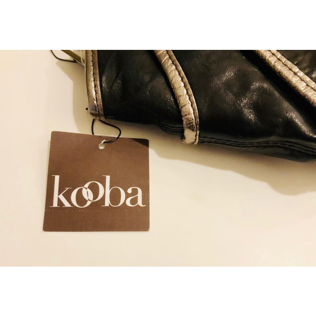 Leather 1980s Style -- New Kooba Oversized Black Leather Clutch For Sale - Image 7 of 8